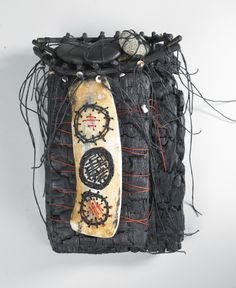 ARTIST: Shannon Weber, Oregon  burned wood, kelp, beach stones