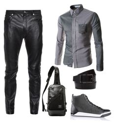 """Mens look #4"" by fashionmass on Polyvore featuring Yves Saint Laurent, Diesel, Salvatore Ferragamo, Harvest Label, men's fashion and menswear"