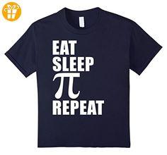 Eat Sleep Pi Repeat Pi Day T Shirt Cute Funny Gift Math Geek Kinder, Größe 116 Navy (*Partner-Link)