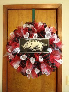 Kelly's Kreations  Razorback Wreath