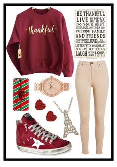 """""""119: Thankful"""" by alinepelle ❤ liked on Polyvore featuring мода, Golden Goose, Nixon, Casetify и Tarina Tarantino"""