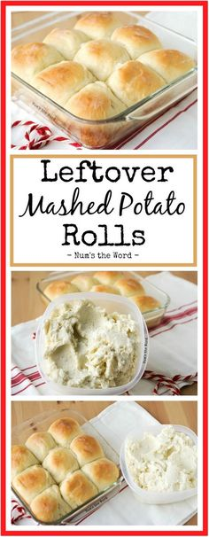 *VIDEO* Leftover Mashed Potato Rolls are a sweet and delicious way to use up any flavor of leftover Leftover Mashed Potatoes, Mashed Sweet Potatoes, Cheesy Potatoes, Baked Potatoes, Mashed Potato Cakes, Mashed Potato Casserole, Mashed Potato Rolls Recipe, Bread Recipes, Cooking Recipes