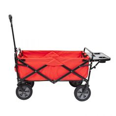 Mac Sports Collapsible Folding Outdoor Utility Wagon Cart W/ Table, Red Pack) Folding Trolley, Folding Wagon, Wheelbarrow Garden, Steel Frame Construction, Utility Cart, Gardening Supplies, Outdoor Gear, Outdoor Gardens, Mac