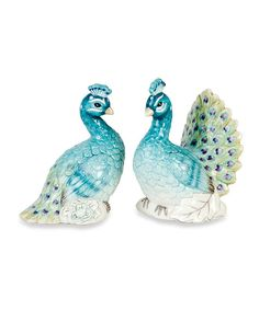 Loving this Peacock Salt & Pepper Shakers on #zulily! #zulilyfinds