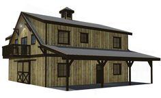 Oakridge Apartment Barn Kit 36' - DC Structures