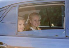 Vuelta al cole de las princesas Leonor y Sofía.