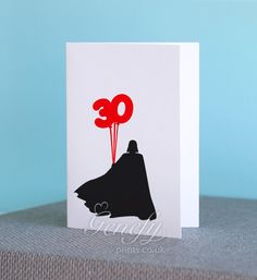 Personalized Star Wars Darth Vader Silhouette Card perfect for birthdays (30th Birthday!) www.genefyprints.co.uk
