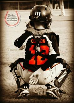 Baseball catcher. Love this photo idea.