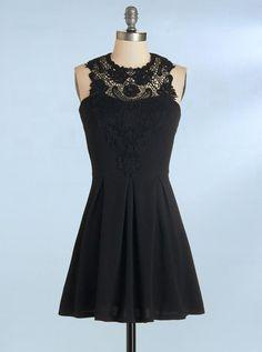 26defa1ebd5 Simple Black A Line Cocktail Dresses Sleeveless Affordable Homecoming  Dresses