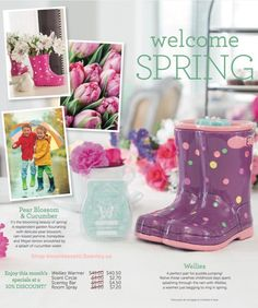 The Scentsy 2016 FebruaryWarmer of the month ~WelliesWarmer A perfect pair for puddle jumping! Relive those carefree childhood days spent splashing through the rain with Wellies,  a warmer just begging to ring in spring. $45.00 $40.50 on sale Month of February 2016 or