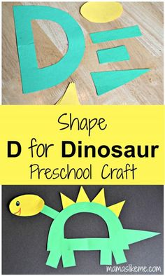 Practice the letter 'D', shapes, and green and yellow with this easy #preschool #craft!