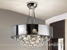 luppo lampara colgante g9 cromo cristal facetado (463714G9) - Schuller / iLamparas.com