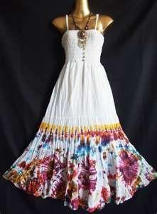 Tie Dye Wedding Dress  133f9f7f09e6