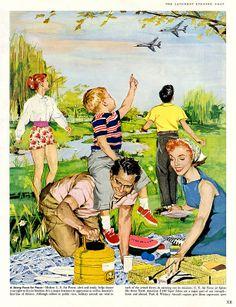 1957 ... aircap on the picnic!