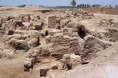 Remnants of Nebuchadnezzar Palace at Babylon. (Courtesy of Capt. Emilio Marrero)