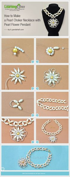 Tutorial on How to Make a Pearl Choker Necklace with Pearl Flower Pendant from L... - http://www.popularaz.com/tutorial-on-how-to-make-a-pearl-choker-necklace-with-pearl-flower-pendant-from-l/
