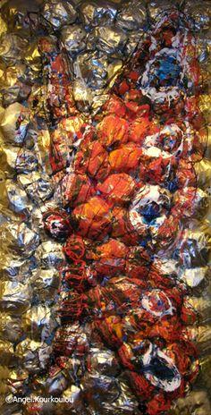 ΑΓΓΕΛΟΙ-ΠΕΤΑΛΟΥΔΕΣ, μικτή τεχνική, 60x120cm, 2013 ANGELS-BUTTERFLIES, mixed media, 60x120cm, 2013