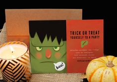 Frankenstein Party Halloween Party Invitations by @oubly