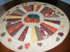Fall Quilted Table Topper/ Autumn Quilted by homesewnbychristine