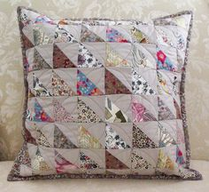 Patchwork Liberty cushion by _name_taken_, via Flickr