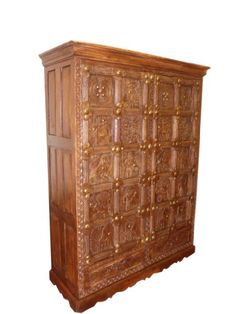 Huge Antique Armoire Wardrobe Cabinet Tribal Carved Teak India Furniture 76x56x20 Mogul Interior,http://www.amazon.com/dp/B00CHYOVJI/ref=cm_sw_r_pi_dp_u8RCsb1A0NTT1K52