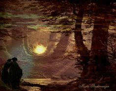 'Die Mondanbeter' von Marie Luise Strohmenger bei artflakes.com als Poster oder Kunstdruck $18.03