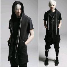 Günstige 2015 mode Harajuku leder patchwork lange kapuzen männer weste weste casual kleid westen für männer designer weste uomo, Kaufe Qualität Westen & Westen direkt vom China-Lieferanten: