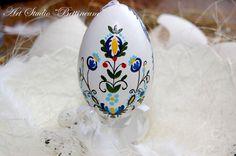 Pysanka egg with  Traditional Polish Kashubian  by Bettineum, $25.00