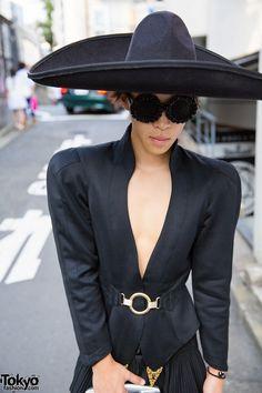 Sombrero Hat & Open Blazer in Harajuku
