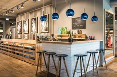 In high-reflective Blue, Copper shade takes on the weightless form of a helium-filled balloon, an unidentified space-age object. Copper Lighting, Blow Molding, Round Pendant, Store Fronts, Restaurant Design, New Homes, Tom Dixon, Lights, Interior