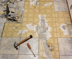 How to remove vinyl tiles. Check out this tutorial into removing old ...