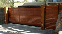 We build Melbourne's most popular timber fences, gates and screens, from treated pine paling fences through to feature fences including Brush fencing & Merbau fencing. Description from kologates.com. I searched for this on bing.com/images