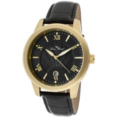 Lucien Piccard Men's Pizzo Watch in Black and Gold - Beyond the Rack