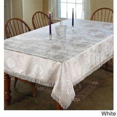 Prestige Damask Design Tablecloth (White (52 x 70))