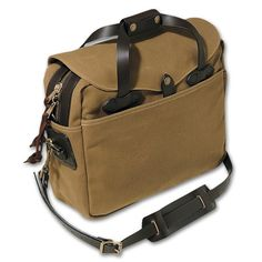 Filson - Briefcase. I will have one of these one day, but in blue. I've wish they has black, but the only black they have is in tweed and I can't imagine that in summer.