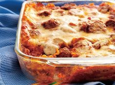Meatball Lasagna click on the photo to see recipe. Thanks !
