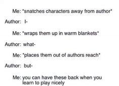 Bad Author, no! No killing of characters!