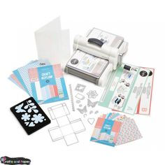 It's everything you love about the Big Shot - plus the versatility to use 8 x materials! With a sleek white and gray color scheme and the Sizzix logo embossed on the handle, the Big Shot Plus Machine offers plenty of stylish appeal with the sa Cricut, Scrapbooking Machine, Grand Cliché, Craft Robo, Version Scrap, Sizzix Big Shot Plus, Die Cut Machines, Starter Set, Theme Noel