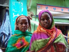 Women in the town of Harar, Ethiopia
