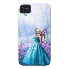 Princess Fae in Blue Case-Mate iPhone 4 Cases