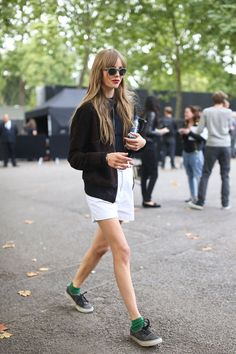 Edie Campbell rocking sweet shades and Authentics!