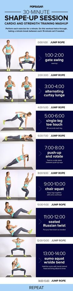 At-Home Workout Mixing Cardio With Strength Training For the Ultimate Burn