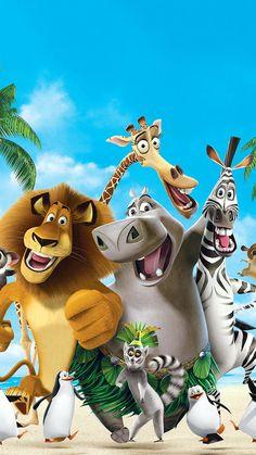 Dreamworks Animation, Disney Animation, Disney And Dreamworks, Cartoon Movies, Cartoon Pics, Cartoon Art, Movie Wallpapers, Cute Cartoon Wallpapers, Madagascar Movie