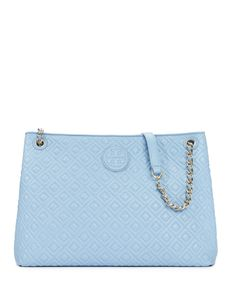 Tory Burch Marion Quilted Chain-Shoulder Slouchy Tote