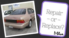 As vehicles age (or face expensive repairs), many people weigh repair costs against the vehicle's worth. If the repair cost exceeds the vehicle's worth, they will often sell or trade in the vehicle. What is the right choice?