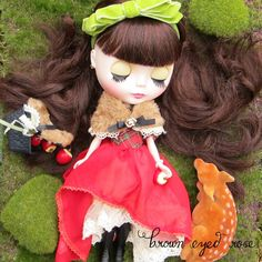 Miniature Wooden Apple for Blythe & Pullip Dolls