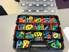 Love these organizers from Home Depot! (2 for $9) I used 1 set to organize my Dollar Tree foam letters & #'s and 1 set to organize my magnetic letters & HFW