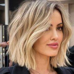 Short Wavy Haircuts, Hairstyles Haircuts, Long To Short Haircut, Short Summer Hairstyles, Long Bob Hair Cuts, Short Lobs, Wavy Lob Haircut, Choppy Lob, Blonde Bob Hairstyles