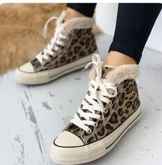 best loved d93e9 9e79e Casual Sneakers, Leopard Sneakers, Leopard Boots, Sneakers Nike, Chunky  Heel Ankle Boots