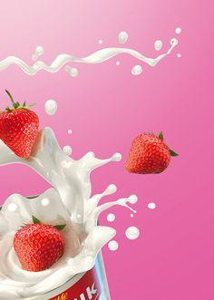 moMilk Wild Strawberries - print advertising